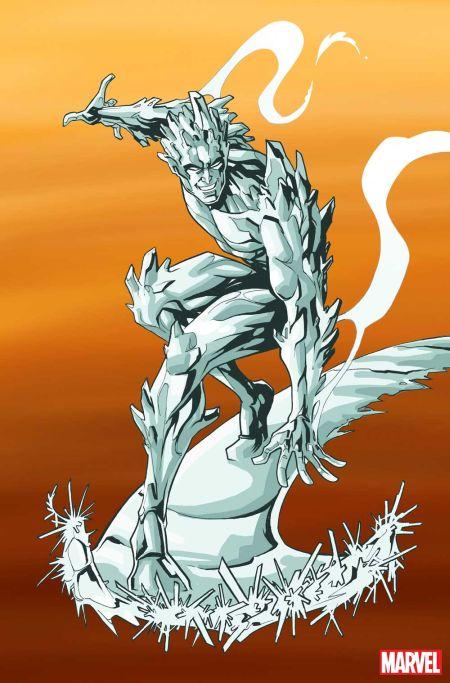 comic book promotional art, marvel comics, marvel entertainment, iceman, iceman promotional art