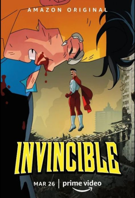 television posters, promotional posters, amazon prime video, invincible, invincible posters