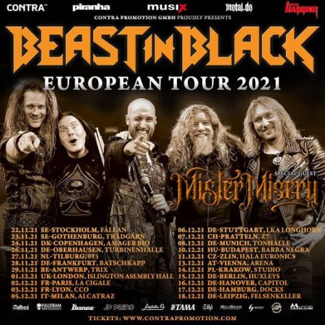 tour posters, promotional posters, beast in black, beast in black tour posters, nuclear blast records artists