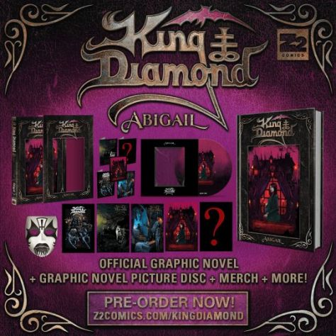 book covers, z2 comics, king diamond, abigail