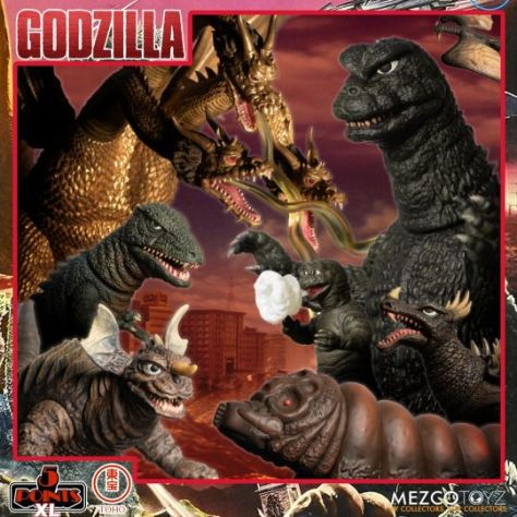 action figures, godzilla action figures, godzilla, godzilla: destroy all monters, mezco, mezco toyz, 5 point xl, 5 points xl action figures