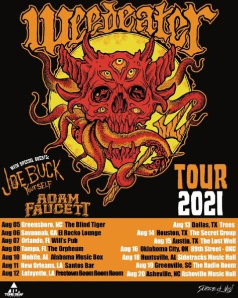 tour posters, promotional posters, weedeater, weedeater tour posters, season of mist records