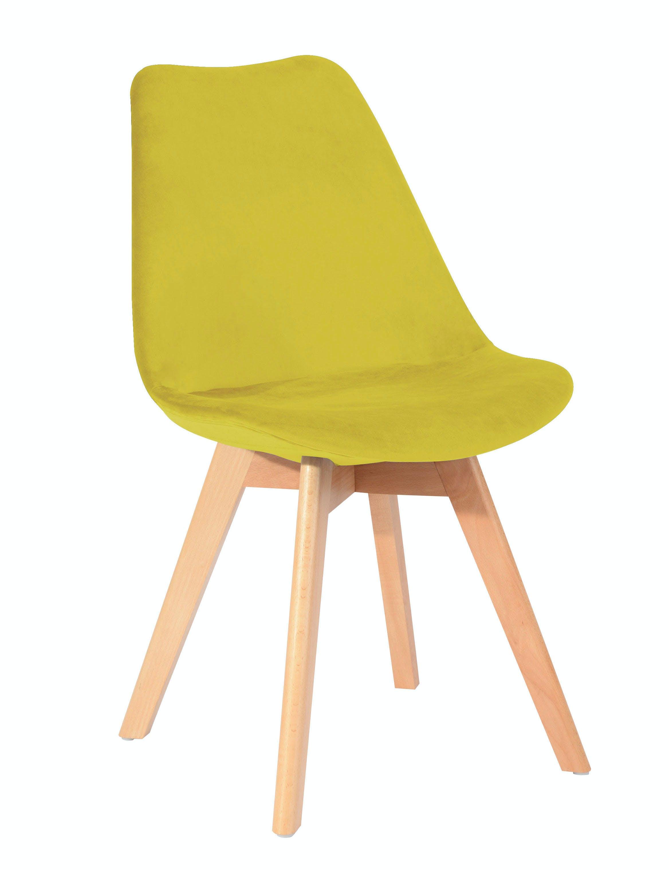 chaise scandinave en velours anis 49x53xh84cm stockholm