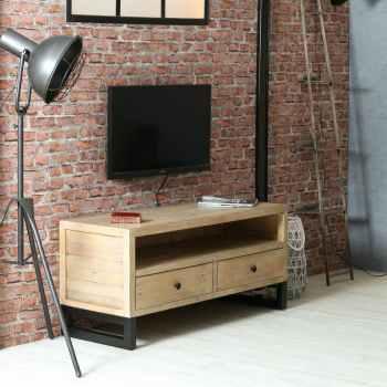 meubles tv bois d angle industriels