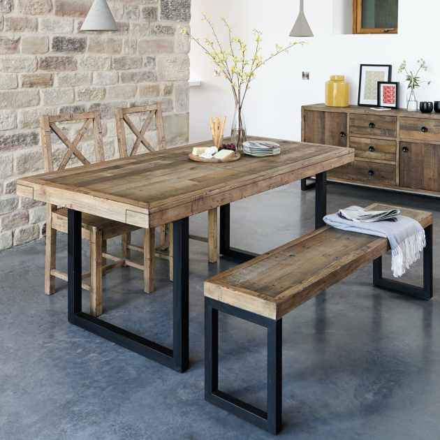 table a manger extensible bois recycle