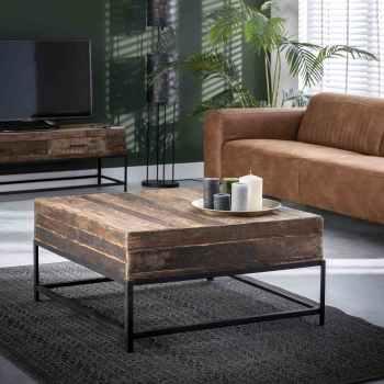 tables basses en bois rondes carrees