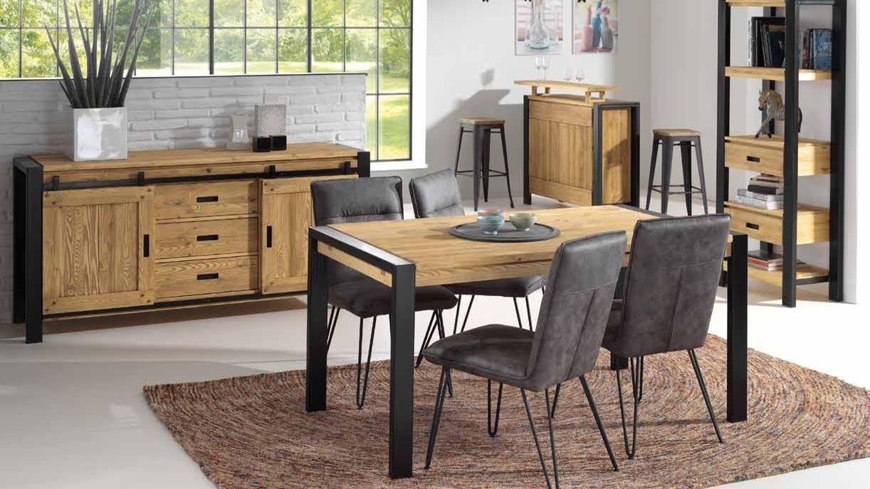 meubles en bois massif buffet table