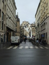 Love the sepia effect of this pic of this cool street art.