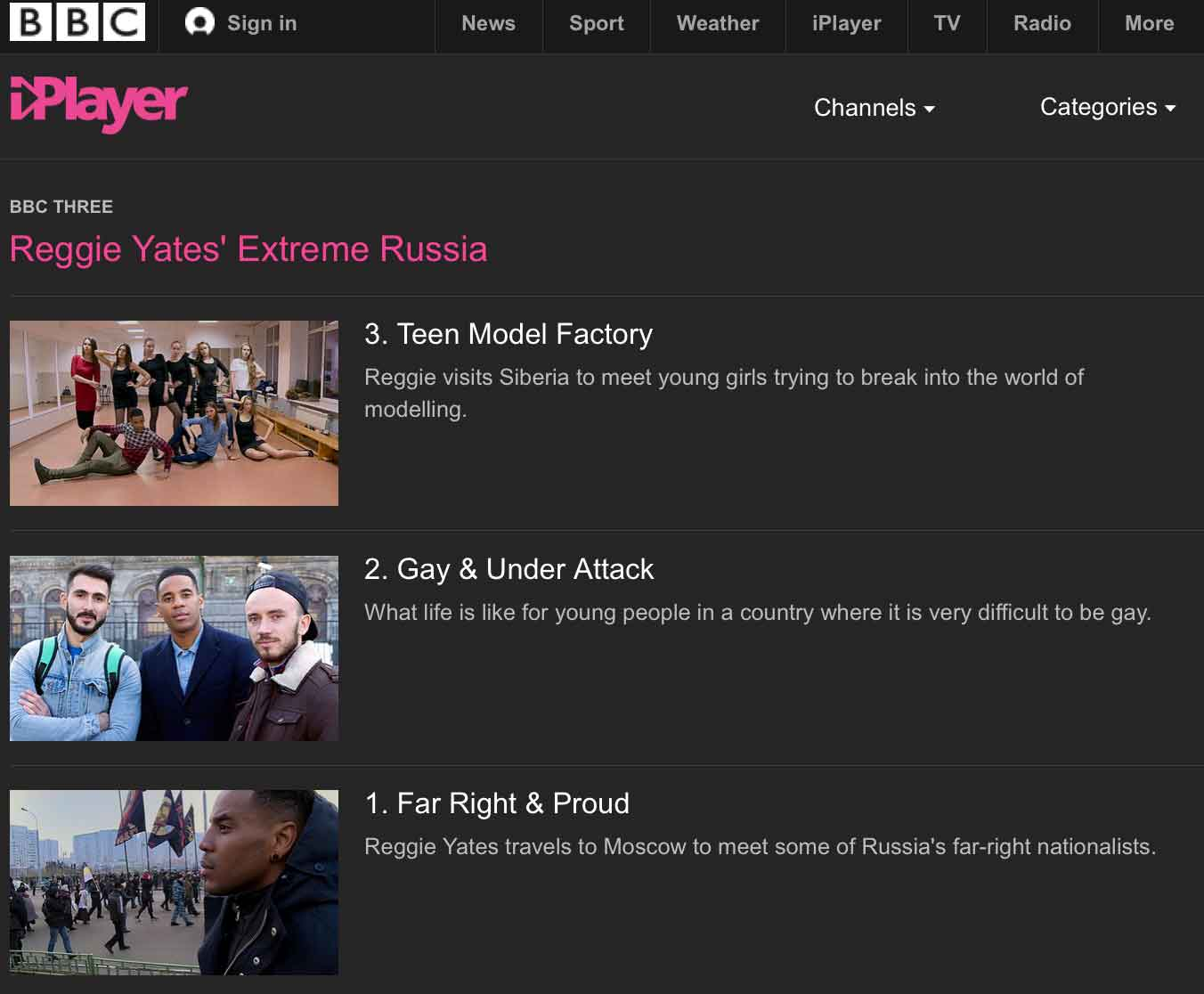 "The BBC ""Extreme Russia"" Series First Three Episodes"