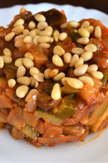 caponata, gulasz warzywny, wloska kuchnia, bakalazan, cukinia
