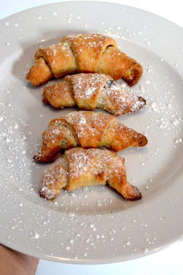 croissants, au chocolat, recette polonaise, rogaliki