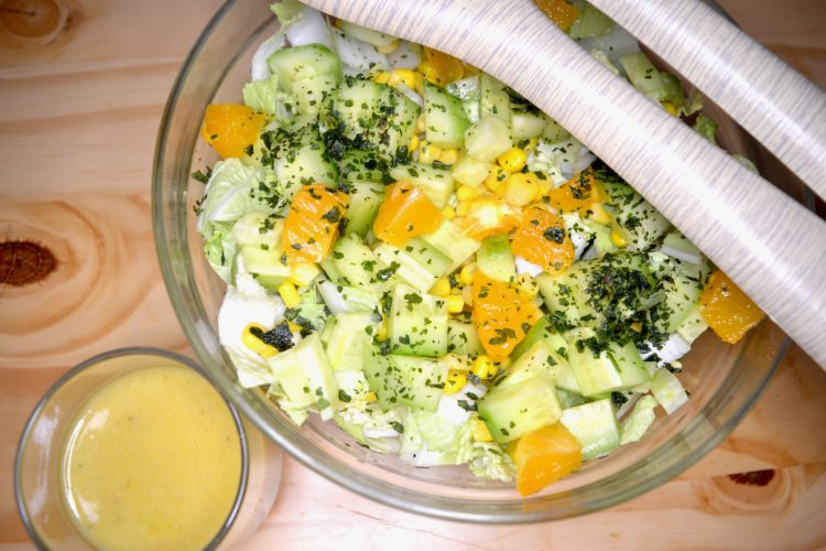 salade, chou, vinaigrette,