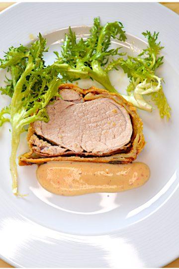 viande, porc, pate feuilletée, parmesan