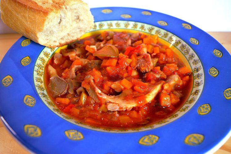 goulasch, champignons, pleurotes,