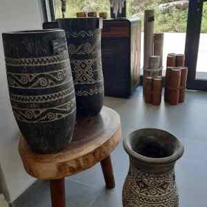 vase ou pot en coeur de palmier