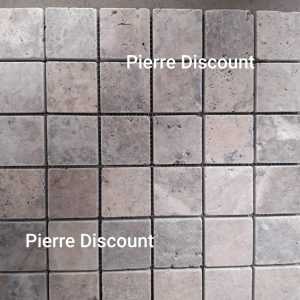 Mosaique silver trvertin 1er choix