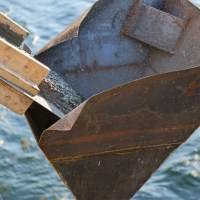 Concrete dumped into chute_5.18.21