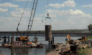 Lifting temporary casing for 2nd drilled shaft5_6.9.21