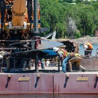 Setting drill bit in place for removal_6.29.21
