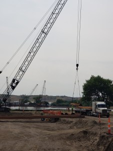 Unloading temp shoring for Pierre abutment_7.13.21