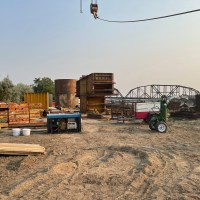 Material staging area on Fort Pierre side_7.27.21