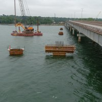 Casings placed for drilled shafts in the river_9.1.21