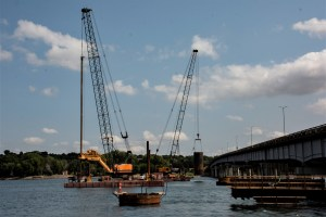 Construction site on the water from Ft. Pierre_8.30.21