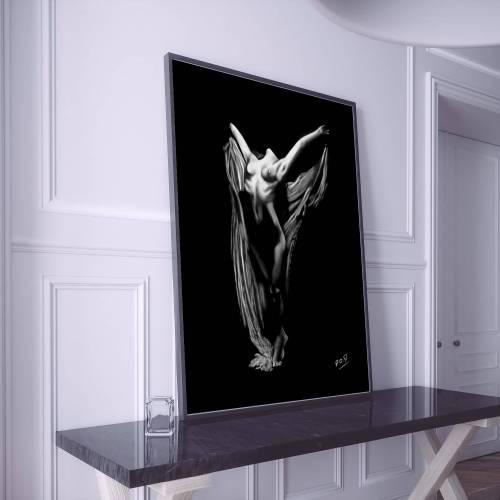 tableau de femme nue 48 au pastel sec nude women painting