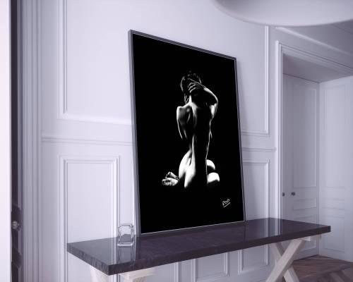 Tableau de femme nue assise 43 peinture moderne au pastel sec