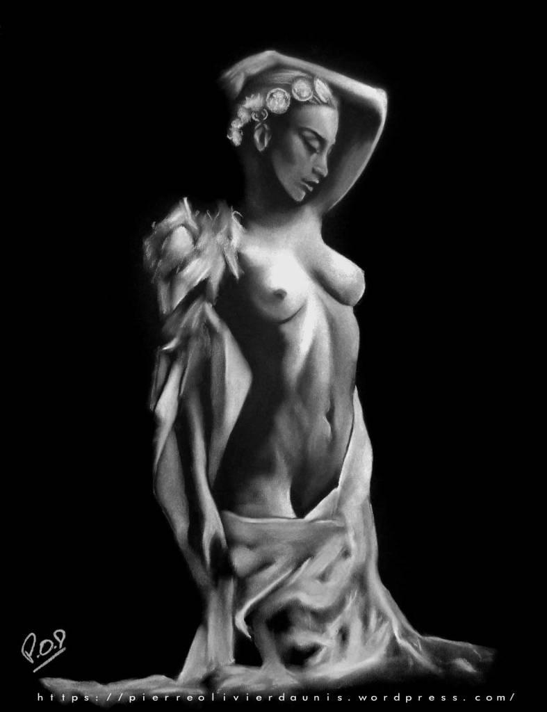 tableau de femme nue 46 par Pierre-Olivier Daunis beautiful woman painting