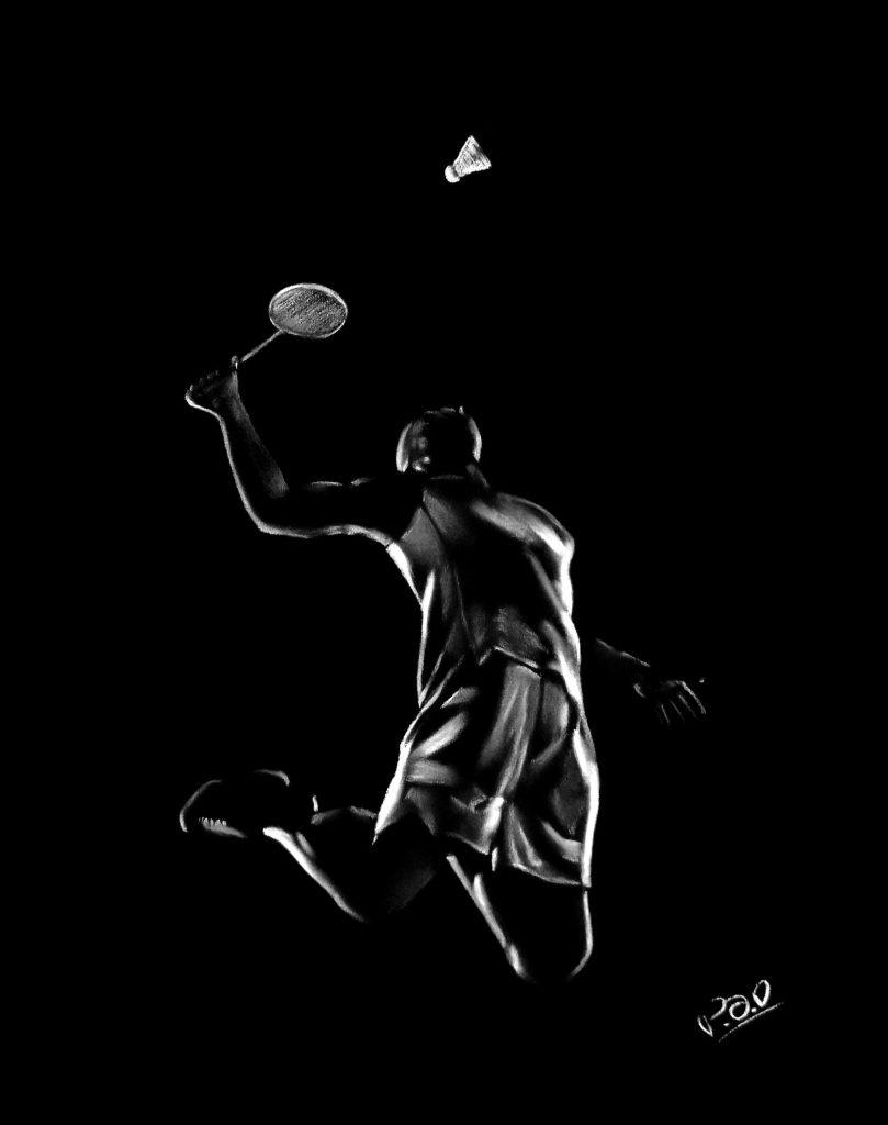 badminton painting