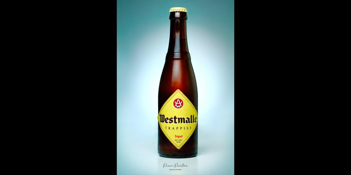 Photo Packshot d'une bouteille de Westmalle Trappist