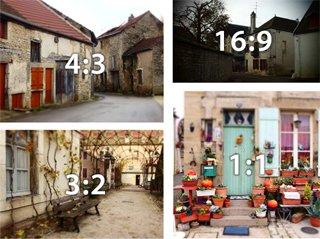 ブログ 再び写真のアスペクト比について