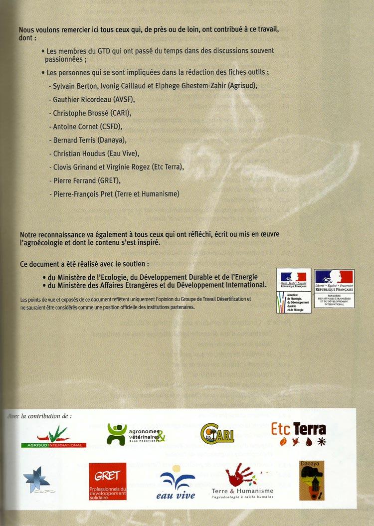 Groupe de Travail Désertification - Contributions