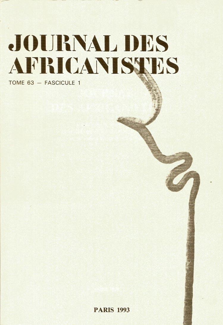 Journal des Africanistes - Le palmier du Borkou, végétal social total