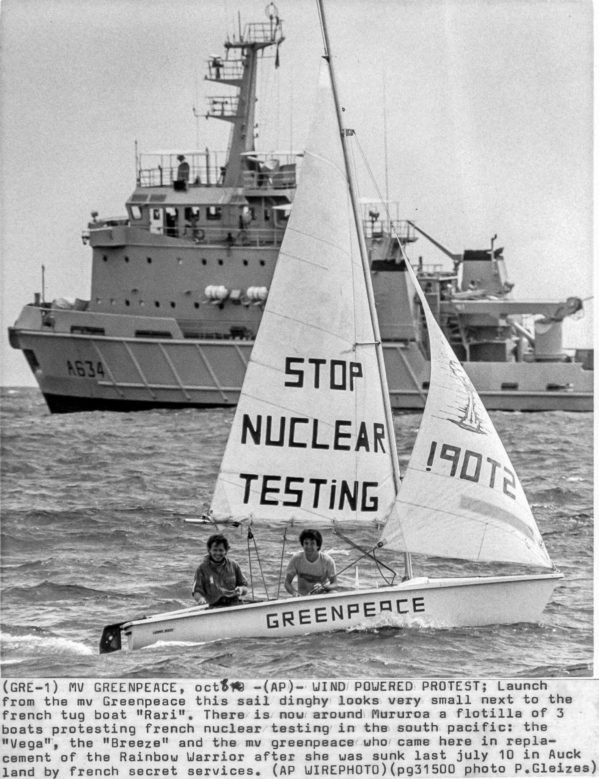 Greenpeace a Moruroa