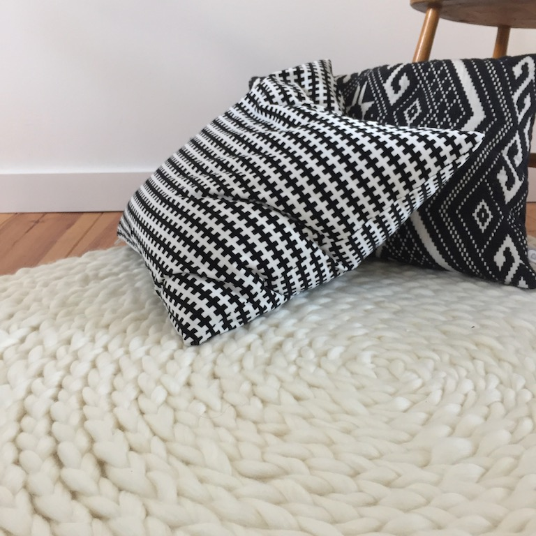diy 48 un tapis en laine pierre