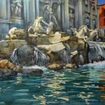 Fontaine de Trevi , Rome copie