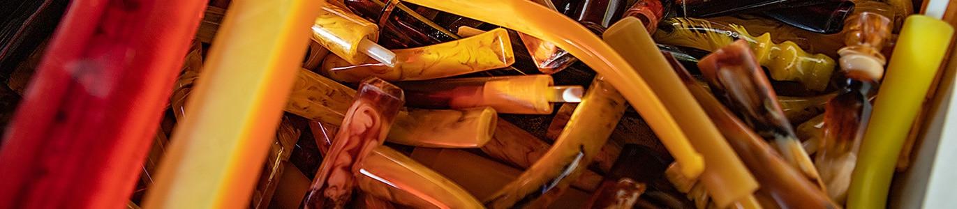 Tuyaux de pipes en résine - création Pierre Voisin
