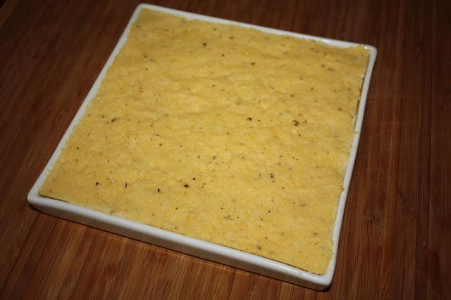 Plat de polenta à laisser reffroidir