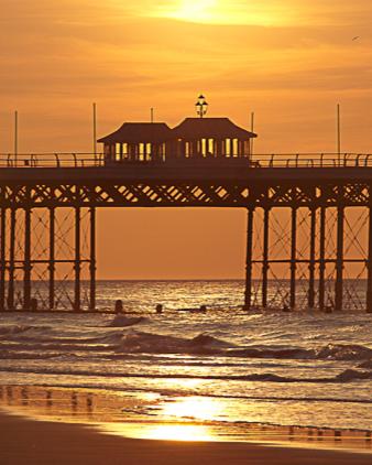 Cromer pier at sunset