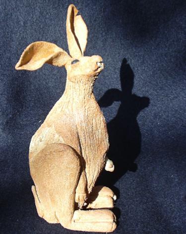 Studio pottery - ceramic hare by Heidi Gibbs