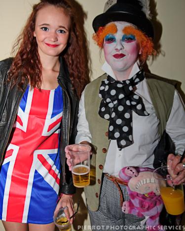 Cromer carnival fancy dress Union jack and clown
