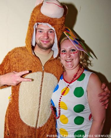 Cromer carnival fancy dress bear with lady in spots