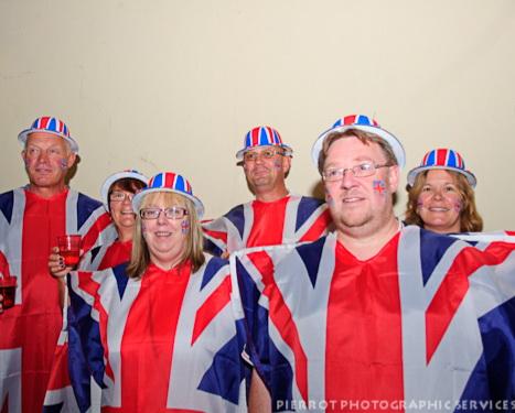 Cromer carnival fancy dress group of union jacks