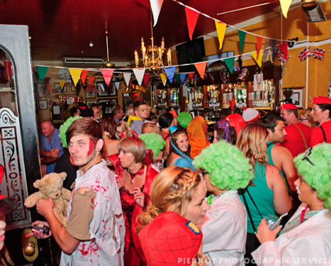 Cromer carnival fancy dress a packed Duke of Wellington pub