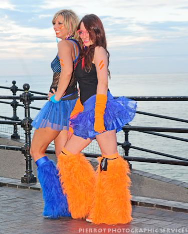 cromer carnival fancy dress two cheeky girls 1
