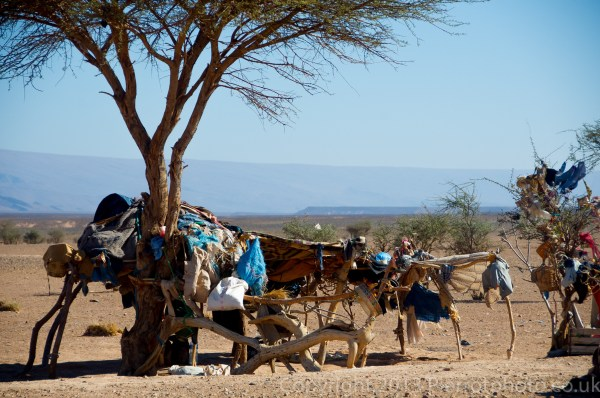 Nomad camp on the edge of the Sahara desert, Morocco