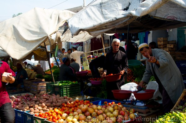 Typical market in Moroccan villages