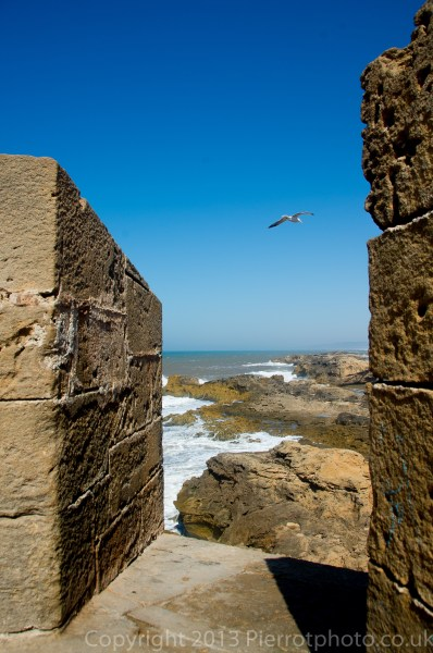 View from the ramparts of Essaouira, Morocco